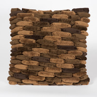 Cobblestone Pillow Dark Earth