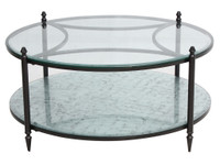 Shadow Box Round Mirrored Coffee Table