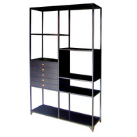 Shadow Box Industrial Black Metal Bookcase