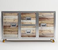Industrial Loft Reclaimed Teak Buffet Sideboard