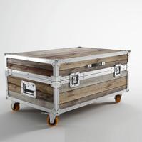 Industrial Loft Reclaimed Teak Small Trunk Coffee Table