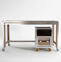 Industrial Loft Reclaimed Teak Office Desk