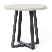 "Masonry Concrete 32"" Bistro Round Dining Table"