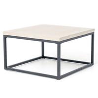 Masonry Concrete Box Frame Square Coffee Table