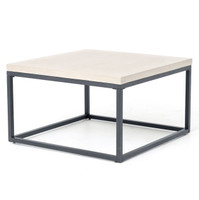 Masonry Concrete Box Frame Square Coffee Table