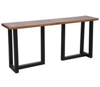 Loft Geometric Metal Base Console Table