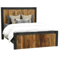 Restoration Rustic King Panel Bed Frame