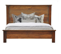 Hampton Solid Wood California King Bed-Brown