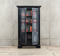 Van Thiel The Johnny Walker 2 Doors Solid Wood Black Cabinet