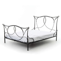 Sienna Industrial Iron Queen Platform Bed Frame
