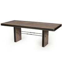 Bina Gerard Driftwood + Iron Dining Room Table