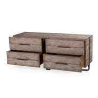 Hayden Driftwood Oak 4 Drawer Dresser