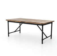 Angora Rustic Industrial Extension Dining Table
