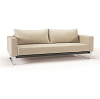 Modern Cassius Sleek Sleeper Sofa Bed-Chrome Legs
