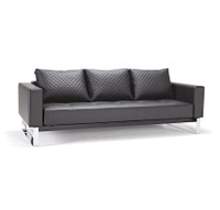 Cassius Q Deluxe Leather Sleeper Sofa-Chrome Legs