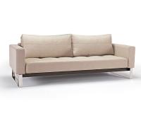 Cassius Deluxe Convertible Sofa Bed-Chrome Legs
