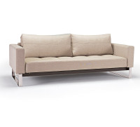 Cassius Deluxe Convertible Sofa Bed-Chrome Legs