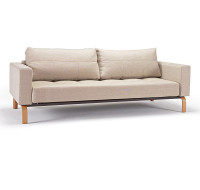 Cassius Deluxe Convertible Sofa Bed-Oak Legs
