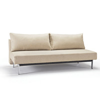 Sly Sleek Full Size convertible sofa with chrome legs