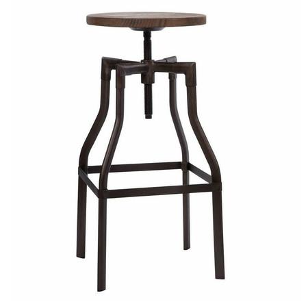 adjustable wood and metal bar stools. Black Bedroom Furniture Sets. Home Design Ideas