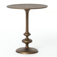 Marlow Matchstick Pedestal Table-Matte Brass