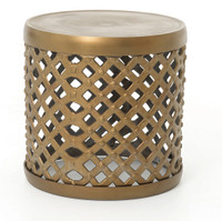 "Marlow 18"" Drum Stool-Matte Brass"
