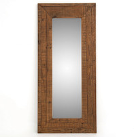 Farmhouse Rustic Reclaimed Wood Large Floor Mirror