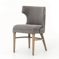 Ashford Dark Gray Nailhead Wing Task Chair