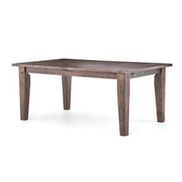 """Coastal Reclaimed Wood Extension Dining Table 96"""""""