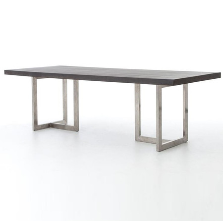 Dining Room Tables Masonry Chrome And Black Concrete Dining Table 84