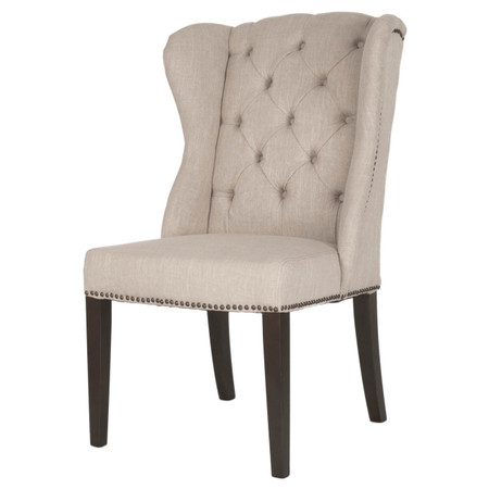 Maison Tufted Wingback Hostess Dining Chair