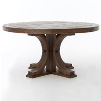 "Lugo Reclaimed Wood 60"" Round Pedestal Dining Table"