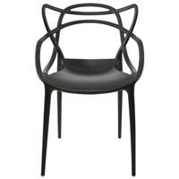D2 Black Modern Masters Side Chair