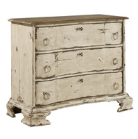 La Grande Vintage White 3 Drawer Chest