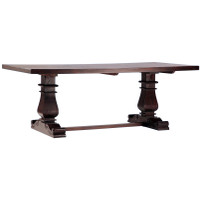 Lauren Dark Wood Trestle Extension Dining Table 84""