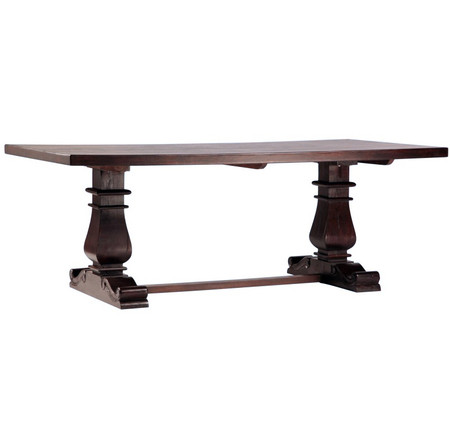 ... Dining Room Tables Lauren Dark Wood Trestle Extension Dining Table 120