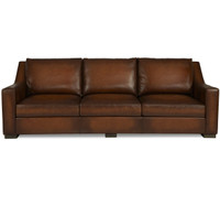Jake Slope Arm Contemporary Leather Sofa 105""