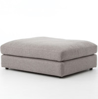Bloor Contemporary Gray Upholstered Ottomans