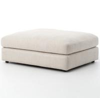 Bloor Contemporary Beige Upholstered Ottoman