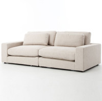 Bloor Beige Upholstered Contemporary 2 Seater Sofa
