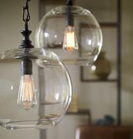 Mason Jar Clear Globe Pendant