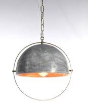 Garrick Antique Brass + Concrete Dome Pendant