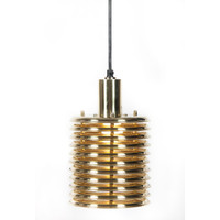 Maxwell Tesla Coil Shiny Brass Pendant