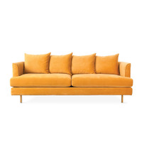 Gus Modern Margot Velvet Sofa-Yellow