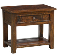 Kosas Solid Dark Wood 1 Drawer Nightstand