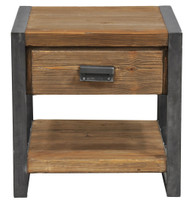 Rustic Industrial 1-Drawer End Tables