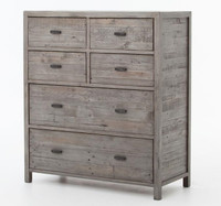Caminito Grey Reclaimed Wood 6 Drawer Tall Chest