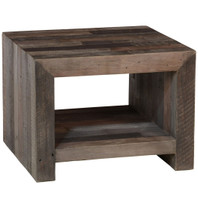 Omni Angora Storm Reclaimed Wood End Table