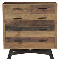 Farmhouse 5 Drawer Reclaimed Wood Dresser