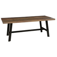 Farmhouse Rustic Reclaimed Wood Dining Table 79""